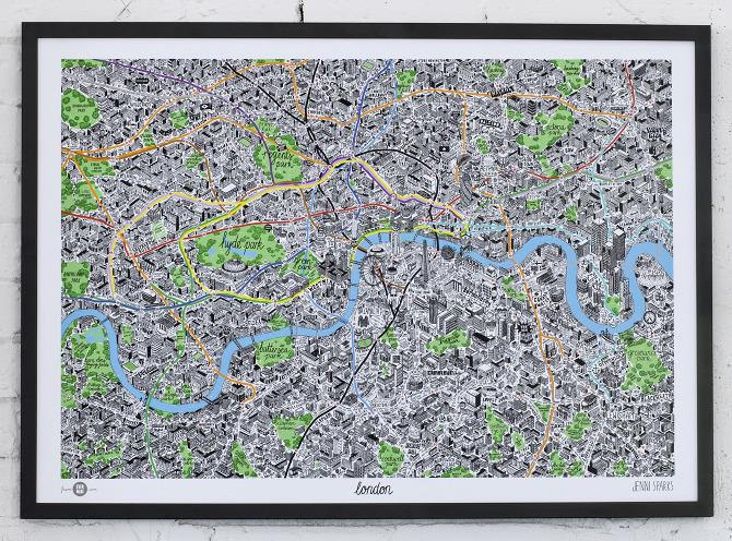 Hand Drawn Map of London Jenni Sparks