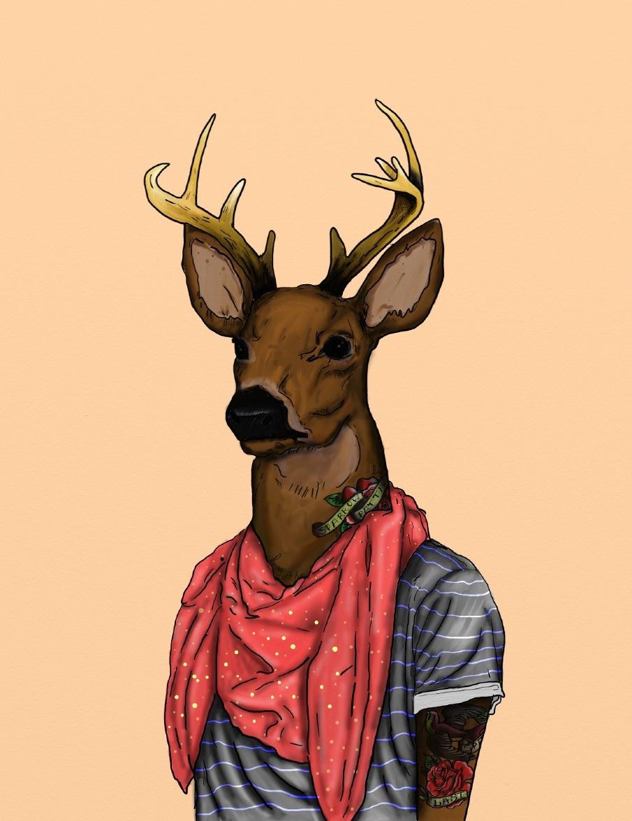 Лучших изображений доски Hipster Animals 17  Canvas